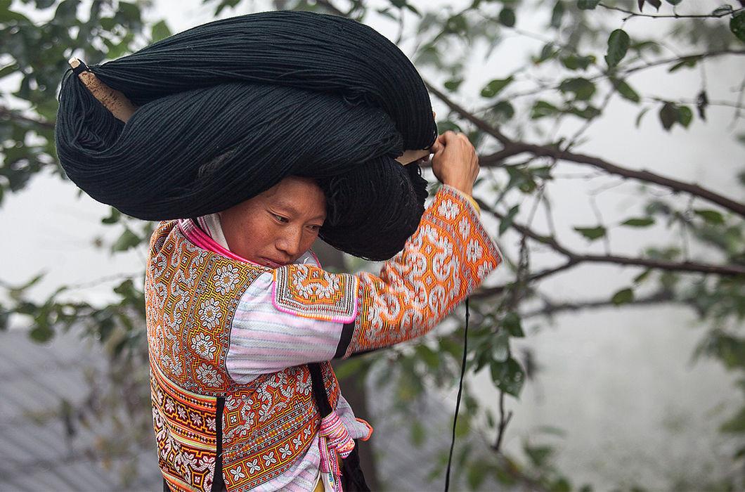 Китай волосы, прическа