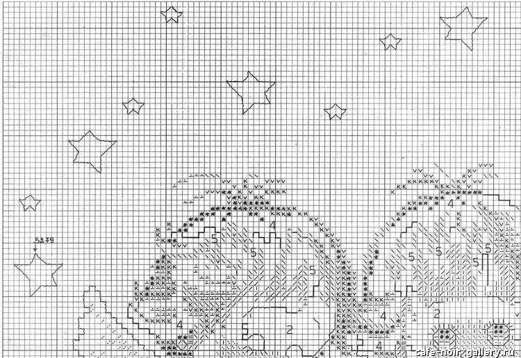 Схемы вышивки 3 ангелочков