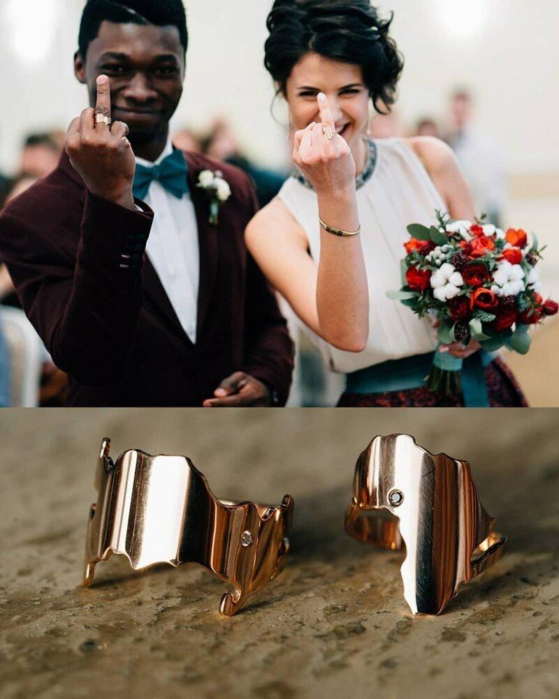 Кольца: у жениха в форме России, а у невесты — в форме Африки Любовь, африка, в мире, история, люди, нигерия, отношения