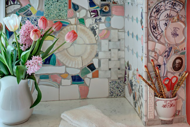Как использовать остатки кафельной плитки для дома: 25 блестящих решений