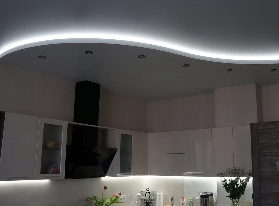 лактея двух уровненный натяжной потолок на кухню фото свои фото города