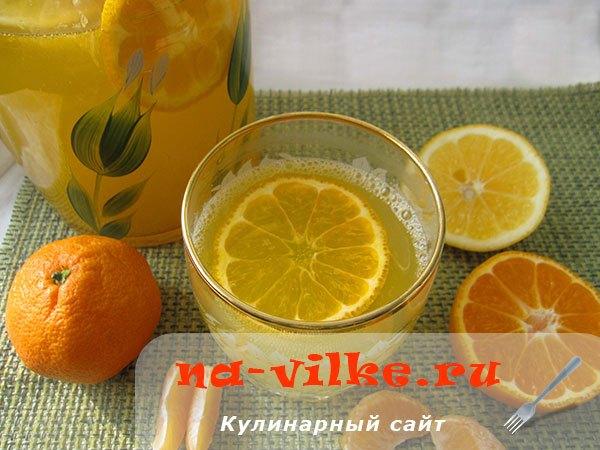 Освежающий мандариновый лимонад