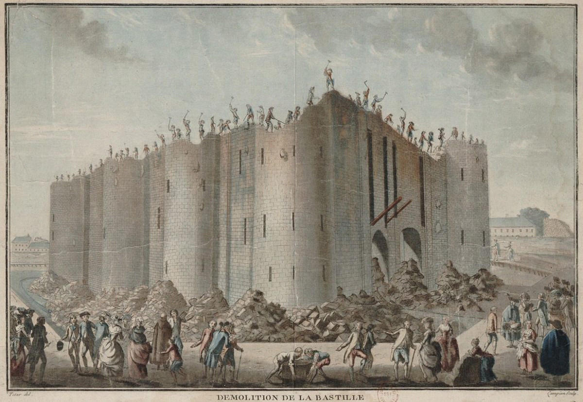 Взятие крепости бастилия картинки