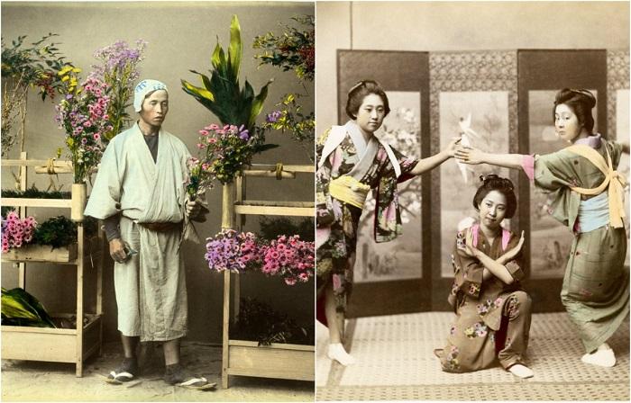 28 цветных ретро фотографий 1865 года, на которых запечатлена Япония и её жители