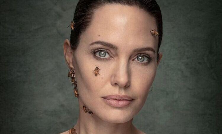Анджелина Джоли снялась с роем пчел, чтобы привлечь внимание к проблеме их вымирания Звезды,Новости о звездах