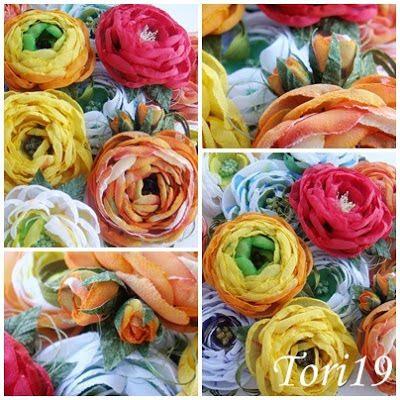 Цветы из ткани