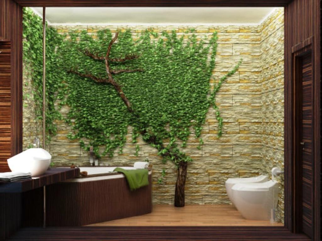 дизайн с природным камнем фото и бамбуком знаки, изображенные