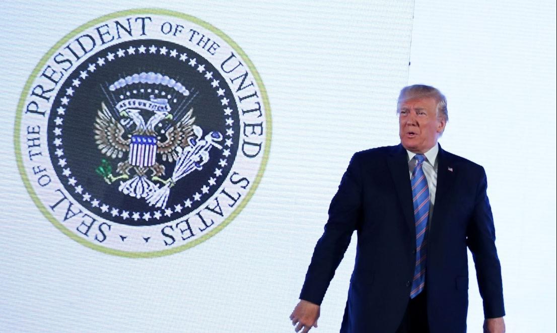 Двуглавый орёл появился на государственной печати президента США