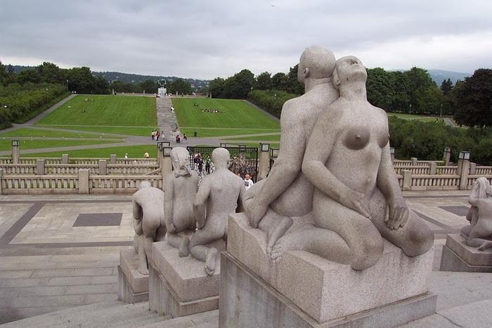 Парк скульптур вигеланда в осло порно