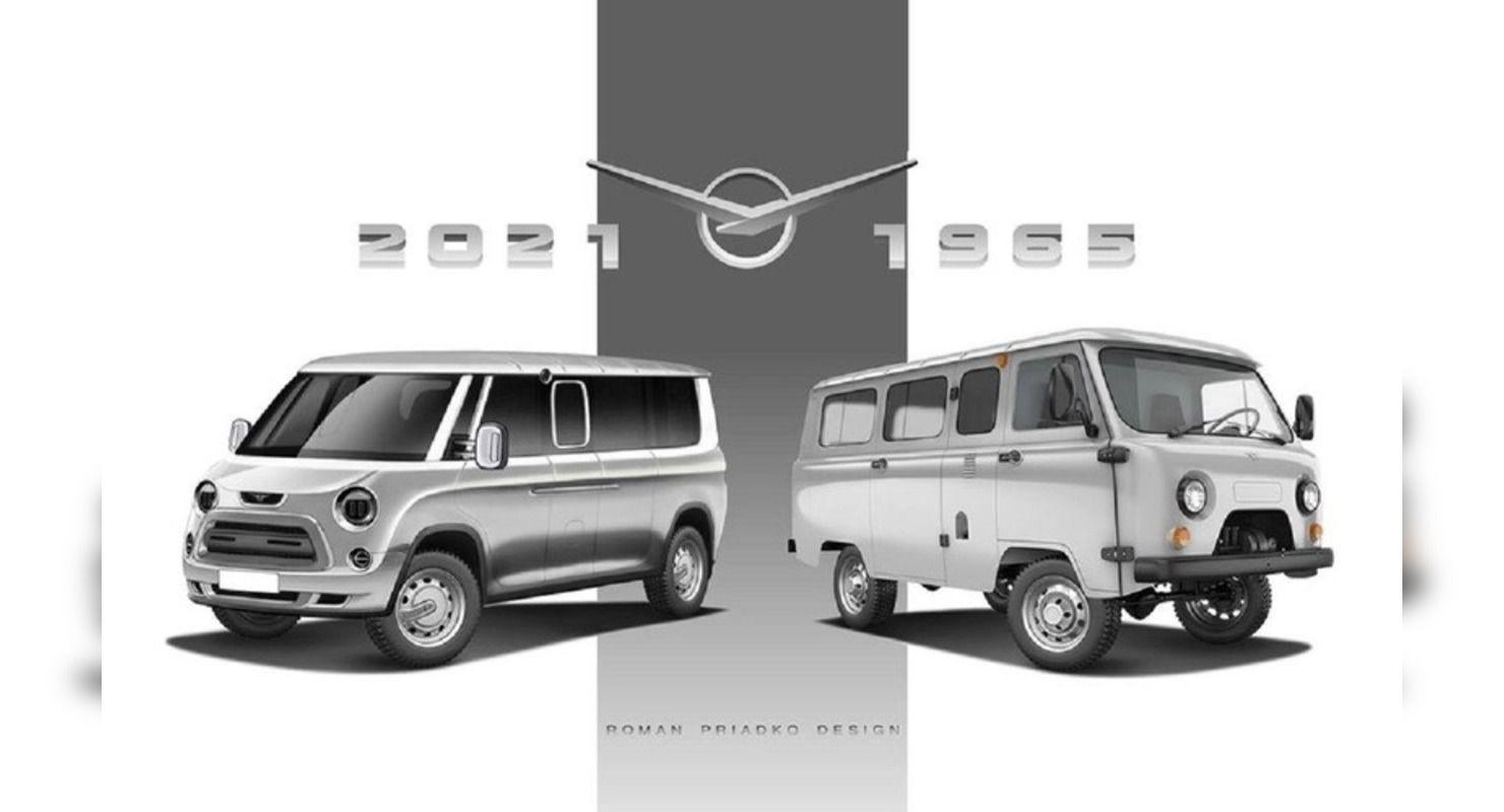 Советский УАЗ-452 получил новые черты на футуристичных рендерах Автомобили