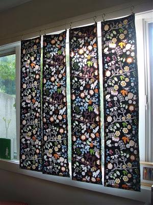 Сшить своими руками импровизированные шторы-панели