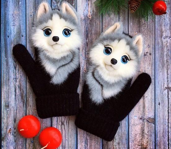 Варежки с животными)))