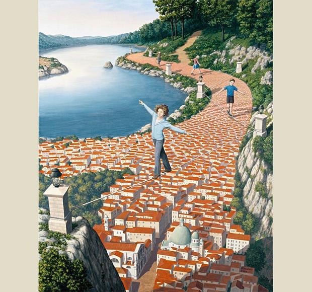 13 картин Роба Гонсалвеса, которые запутают ваш мозг интересное,картины,оптические иллюзии,художник
