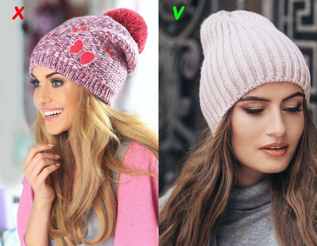 Антитренд и модный вариант вязаной шапки