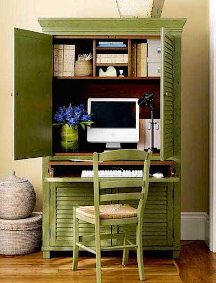 12 самых маленьких домашних офисов: черпайте идеи! фото 1