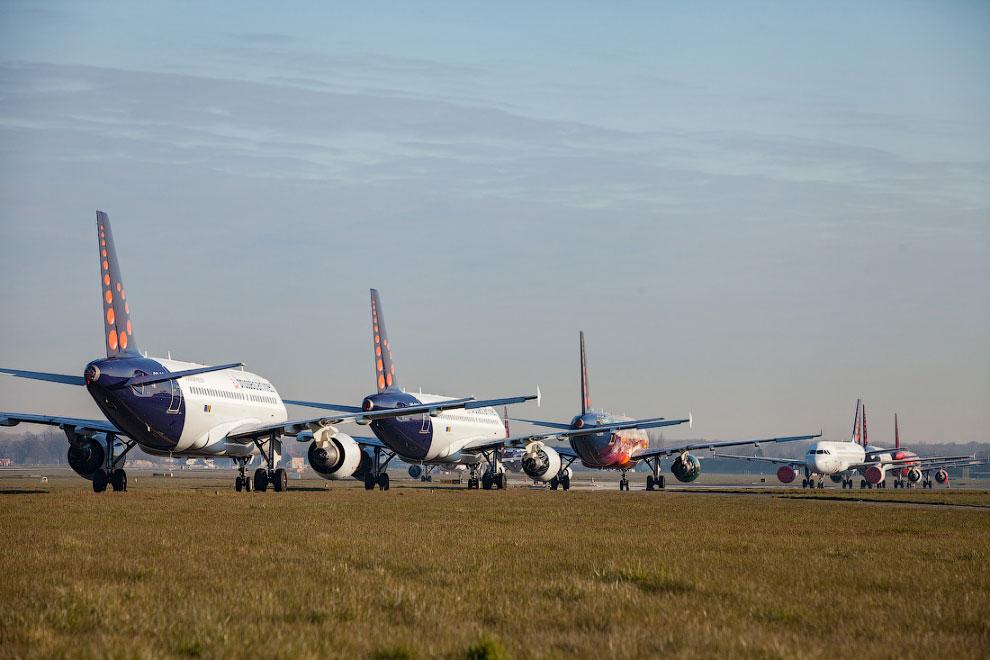 Консервация самолётов из-за коронавируса самолеты,эпидемия