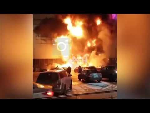 В сети появилось видео пожар…