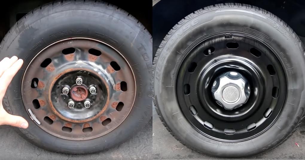 Простая техника для обновления колесных дисков