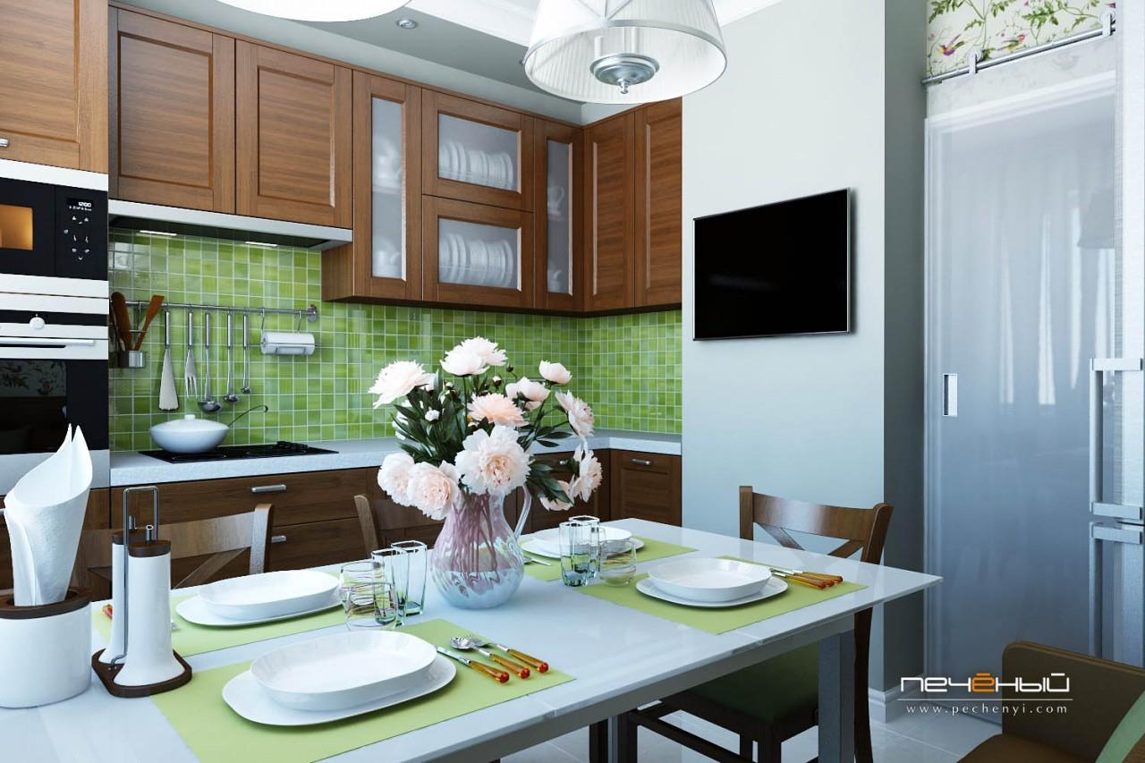 фото дизайн кухни в домах серии п44