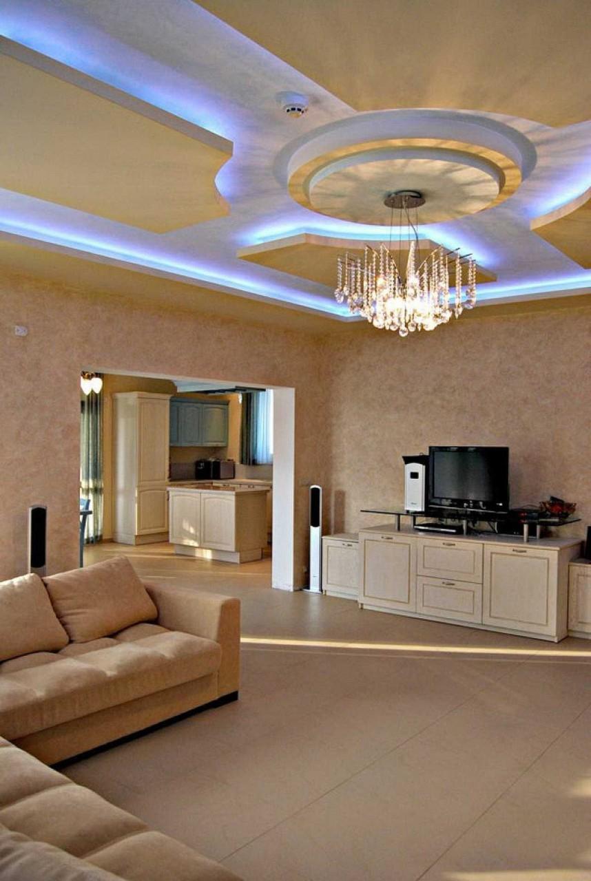 Парящий потолок: разновидности конструкций, форм, цвета, идеи дизайна в интерьере-7