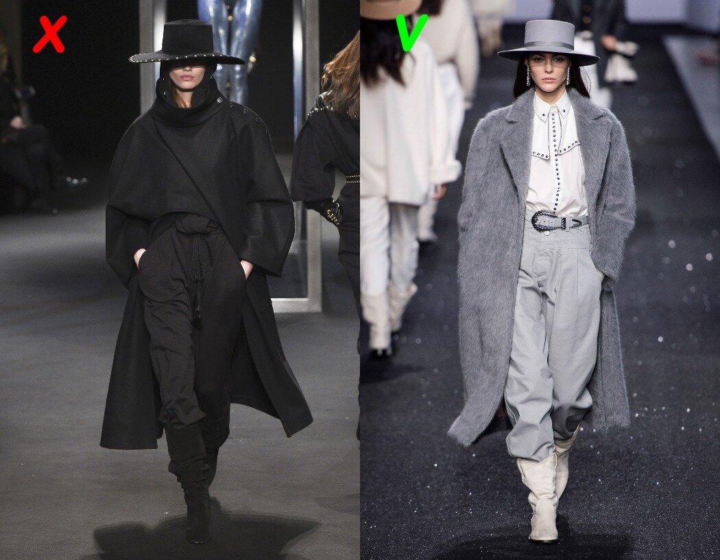 Alberta Ferretti: слева - осень 2018, справа - осень 2019.