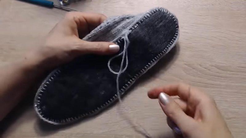 Оказывается, это так просто! Идеальная подошва для тапочек и носков обувь,переделки,рукоделие,своими руками,сделай сам
