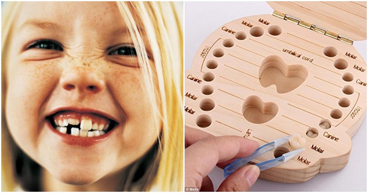 Самый причудливый подарок для молодых родителей? Коробка, которая позволяет хранить молочные ЗУБЫ, и не только!