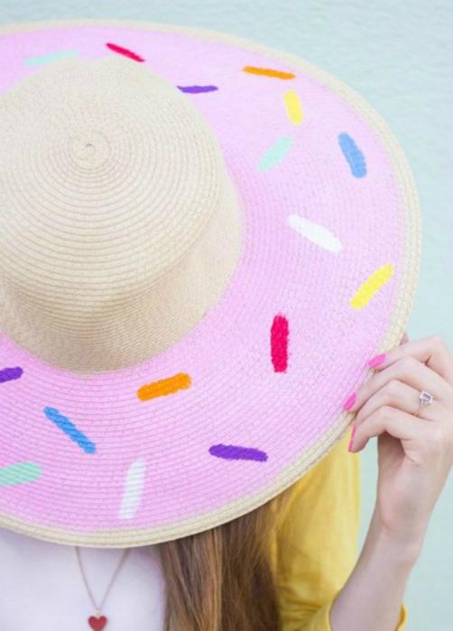 Декор соломенной шляпы.