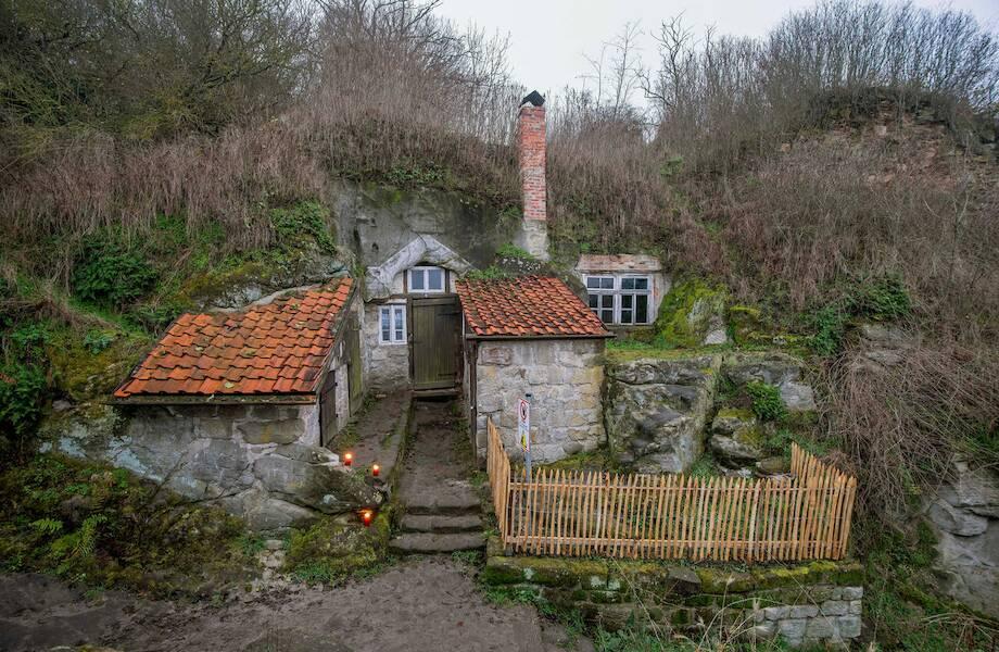 Пещерные дома Германии, на крышах которых пасся скот где и как,жилье,кто,необычные дома