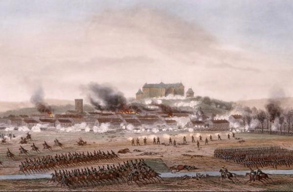 Сражение при Бриенне, городке, где учился Наполеон