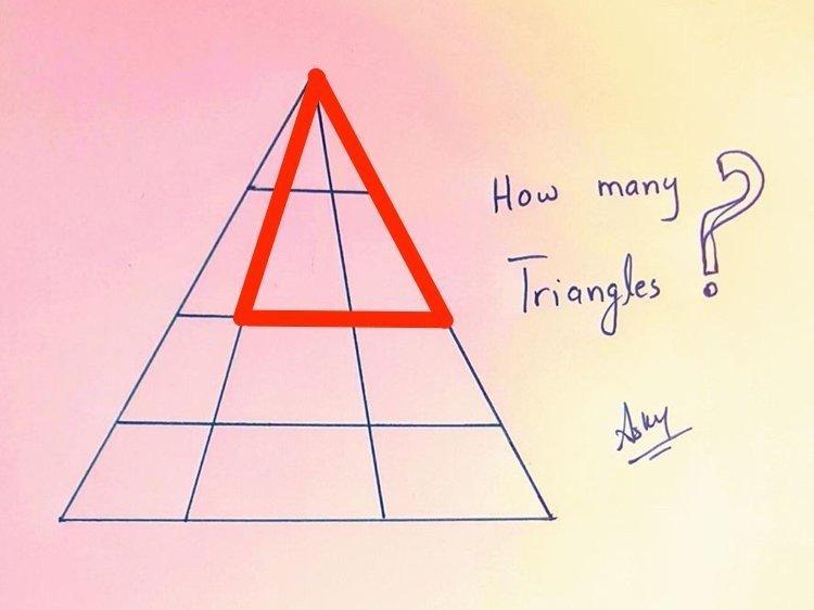 Всего треугольников 24 головоломки, задача, иллюзия, интернет, прикол