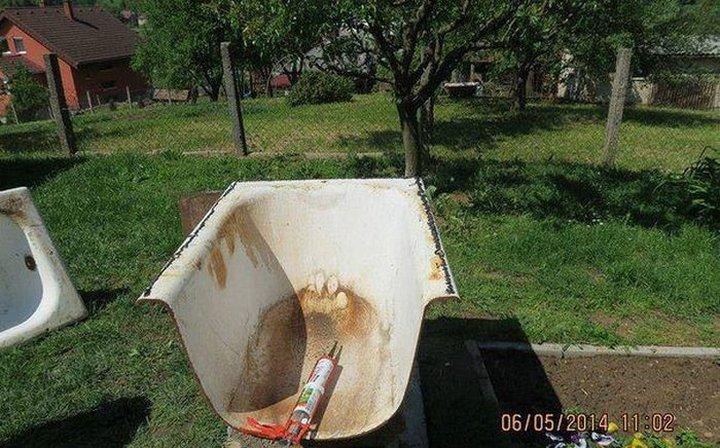 Хлебопечка из выброшенной ванны