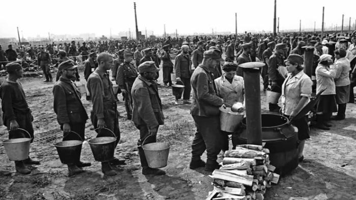 Сознательно немецких пленных голодом никто не морил./Фото: sovsekretno.ru