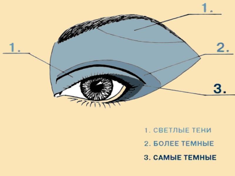 центру картинки как наносить тени на глаза способно эффективно снимать