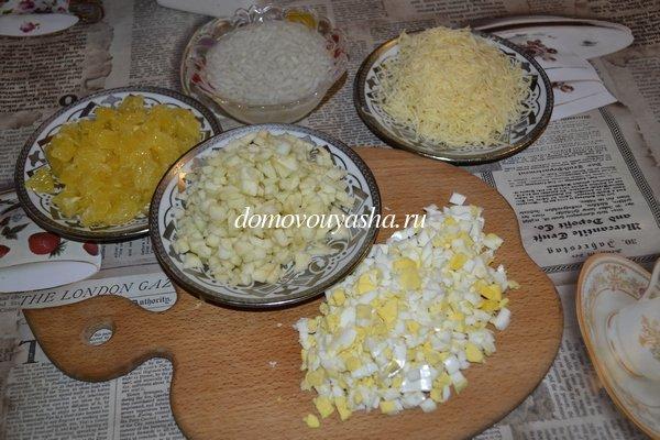 Салат дипломат рецепт с фото - ингредиенты