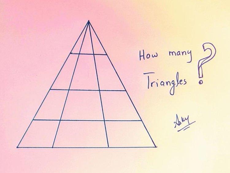 12. Как вы думаете, сколько треугольников на картинке? головоломки, задача, иллюзия, интернет, прикол