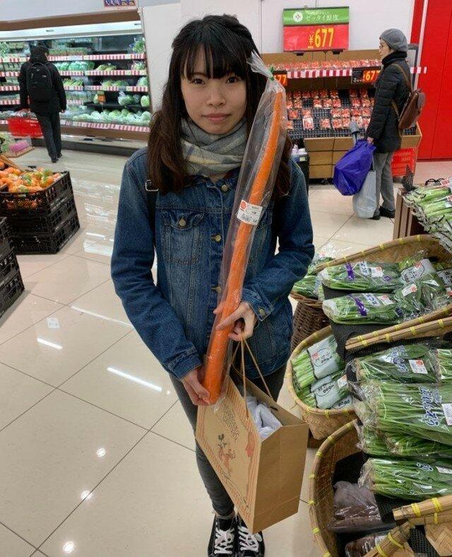 этого размещенных японка в супермаркете мало