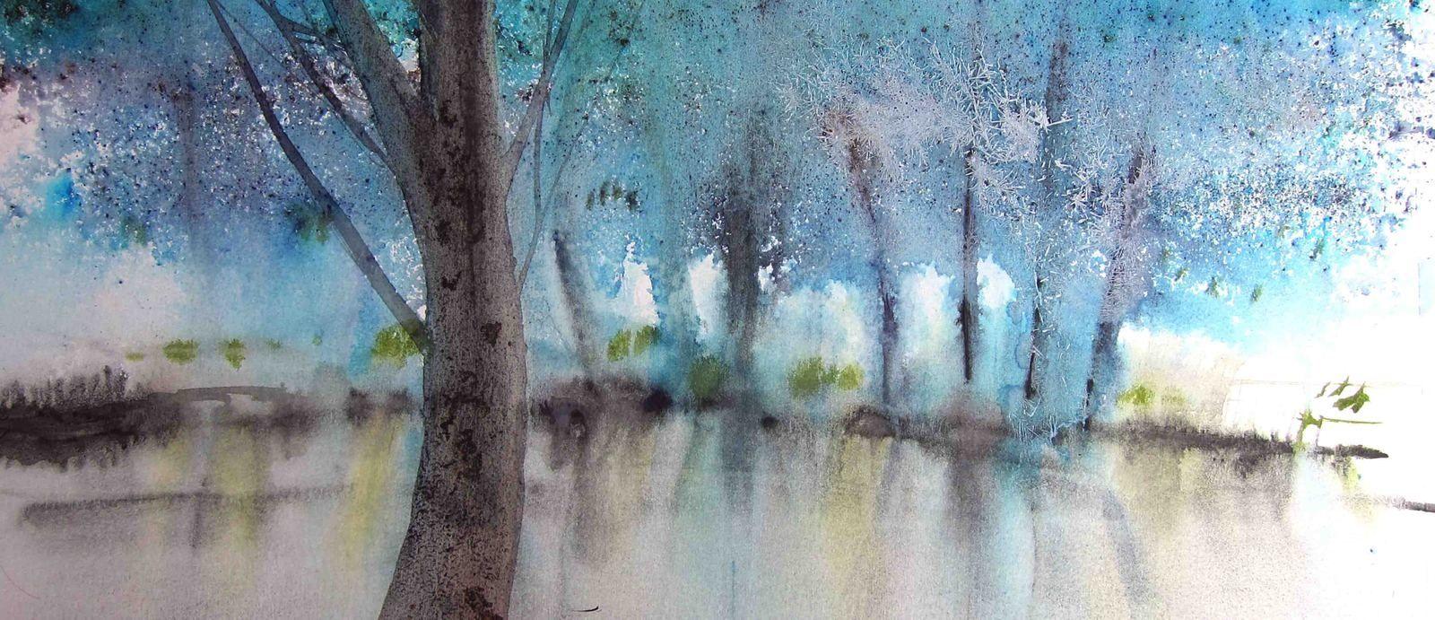 Этот запах весны... Акварель Reine-Marie Pinchon акварель,живопись