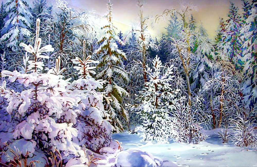 картинки сказочного зимнего леса