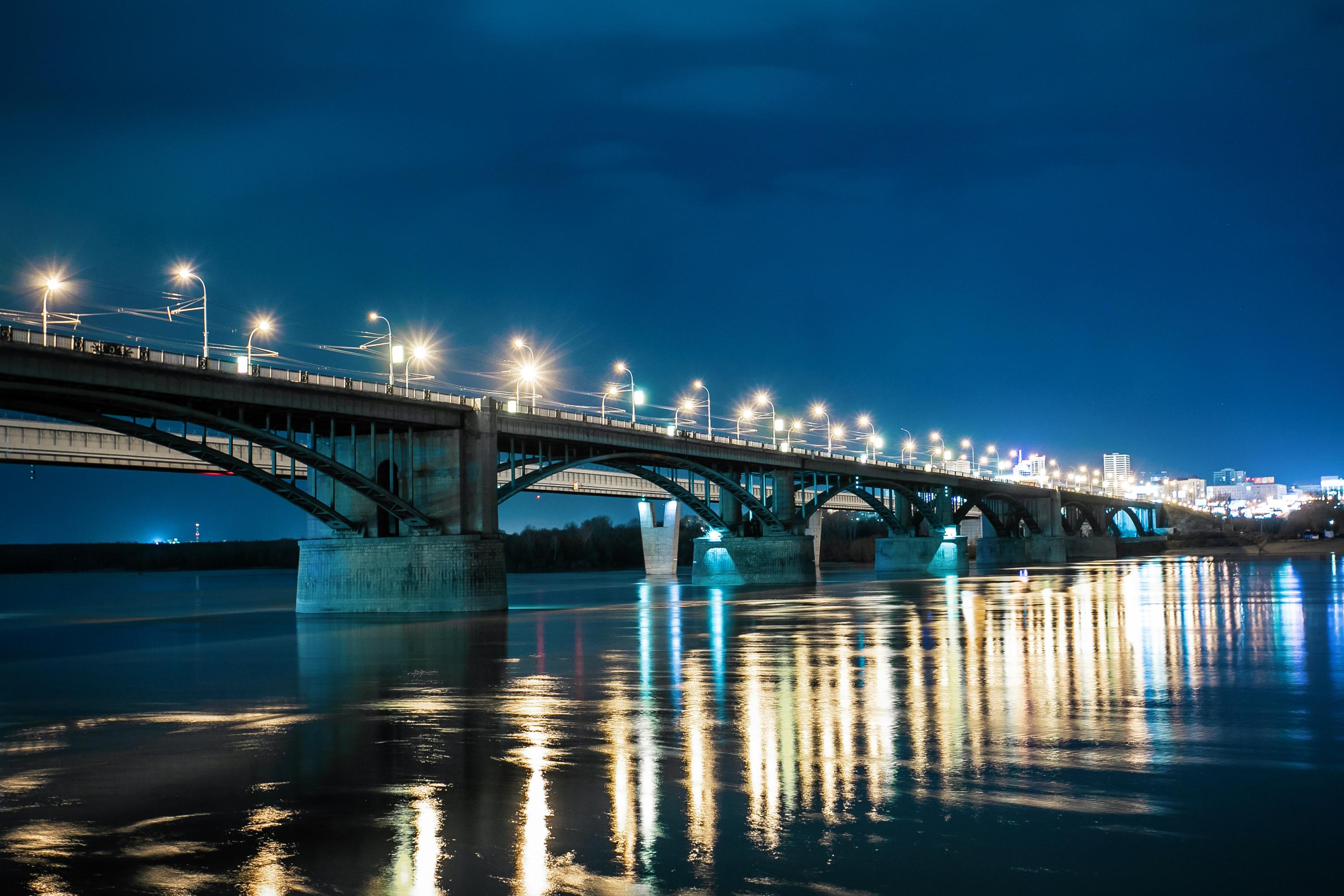 Ночной город новосибирск картинки