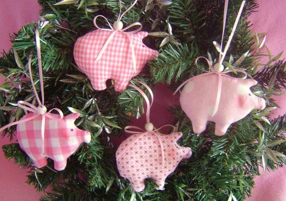 Выкройки подарочных свинок -…