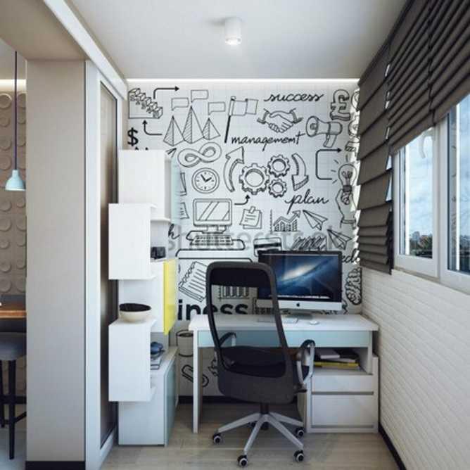 Лоджия с рабочим местом: идеи 3