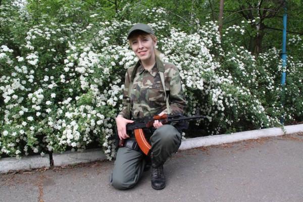 Украинка поспорила с бойцом …