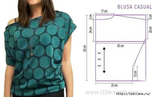 Простая выкройка блузы-футболки