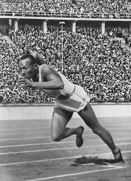Оуэн Джесси на Олимпийских играх в 1936 году.