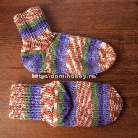 Вязание носков с отдельной пяткой