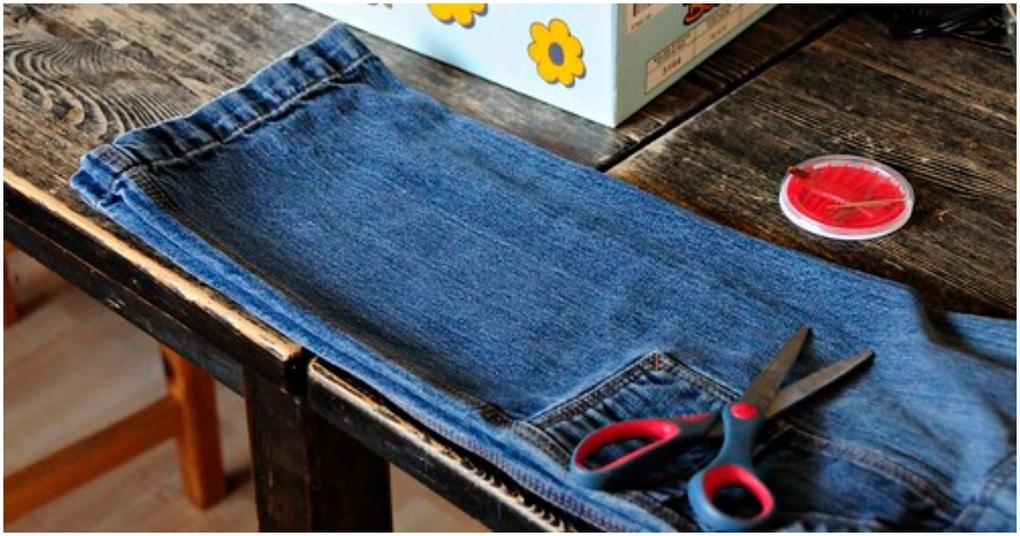 Лёгким движением руки джинсы превращаются… в полезный аксессуар