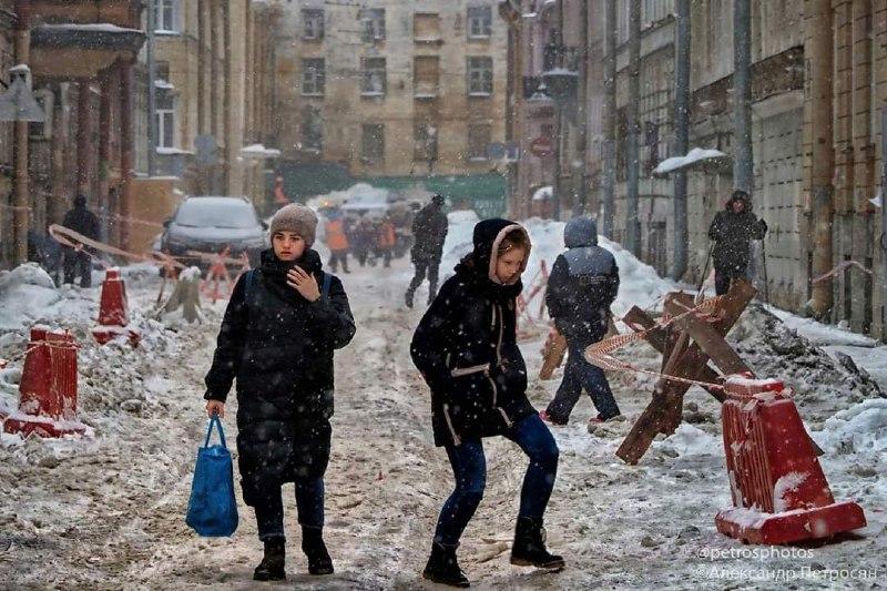 Питер, снег... зима