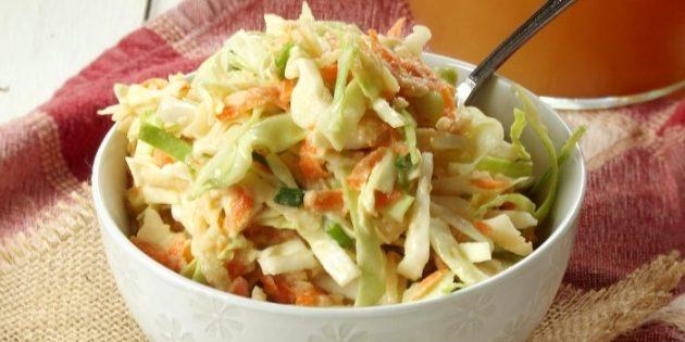 Рецепты с яблоками: Овощной салат с яблоками