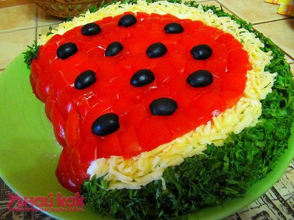 Салат в виде арбуза с фото